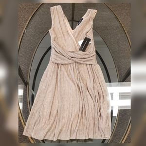 NWT French Connection Gold Dress Sz 4